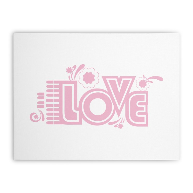 Steno Love Home Stretched Canvas by Stenograph's Artist Shop