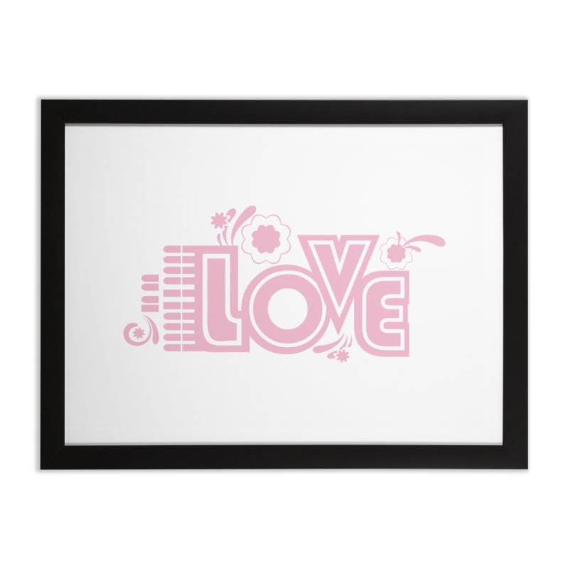 Steno Love Home Framed Fine Art Print by Stenograph's Artist Shop