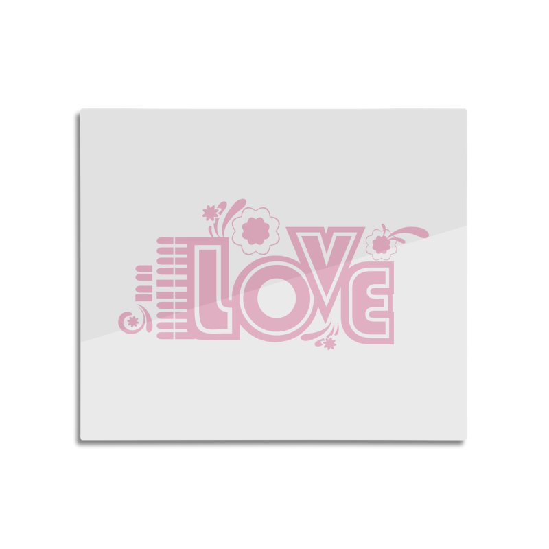 Steno Love Home Mounted Aluminum Print by Stenograph's Artist Shop