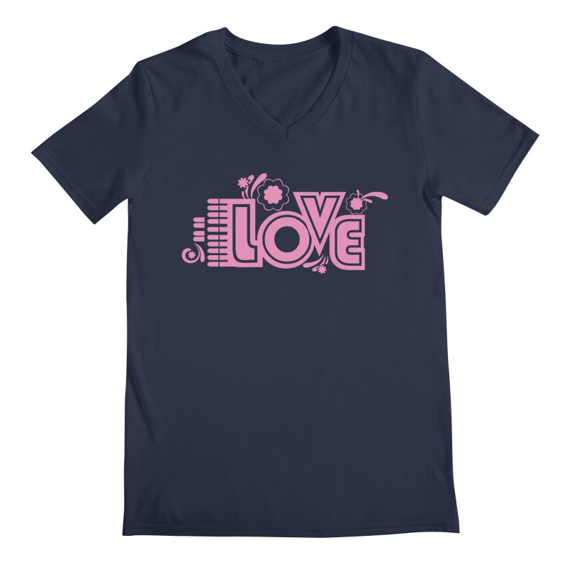 Steno Love Men's Regular V-Neck by Stenograph's Artist Shop