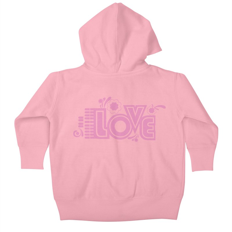 Steno Love Kids Baby Zip-Up Hoody by Stenograph's Artist Shop