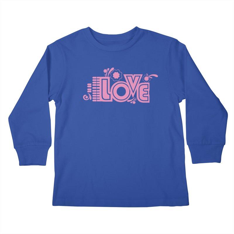 Steno Love Kids Longsleeve T-Shirt by Stenograph's Artist Shop