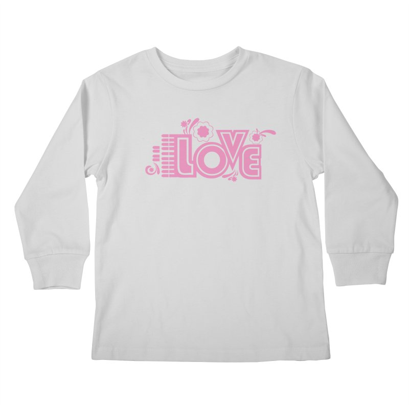 Steno Love Kids Longsleeve T-Shirt by Stenograph's Artist Shop