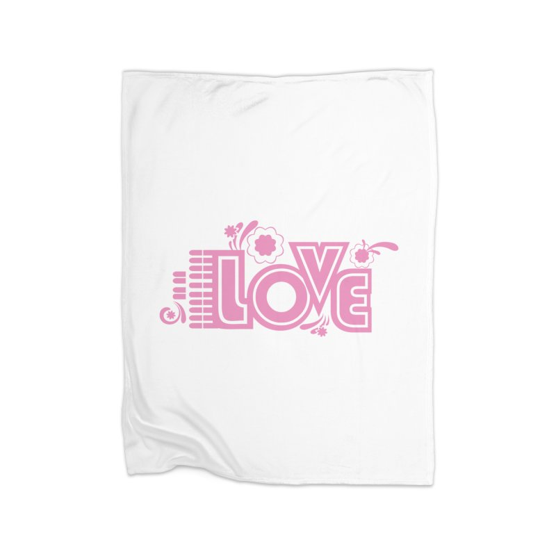 Steno Love Home Fleece Blanket Blanket by Stenograph's Artist Shop