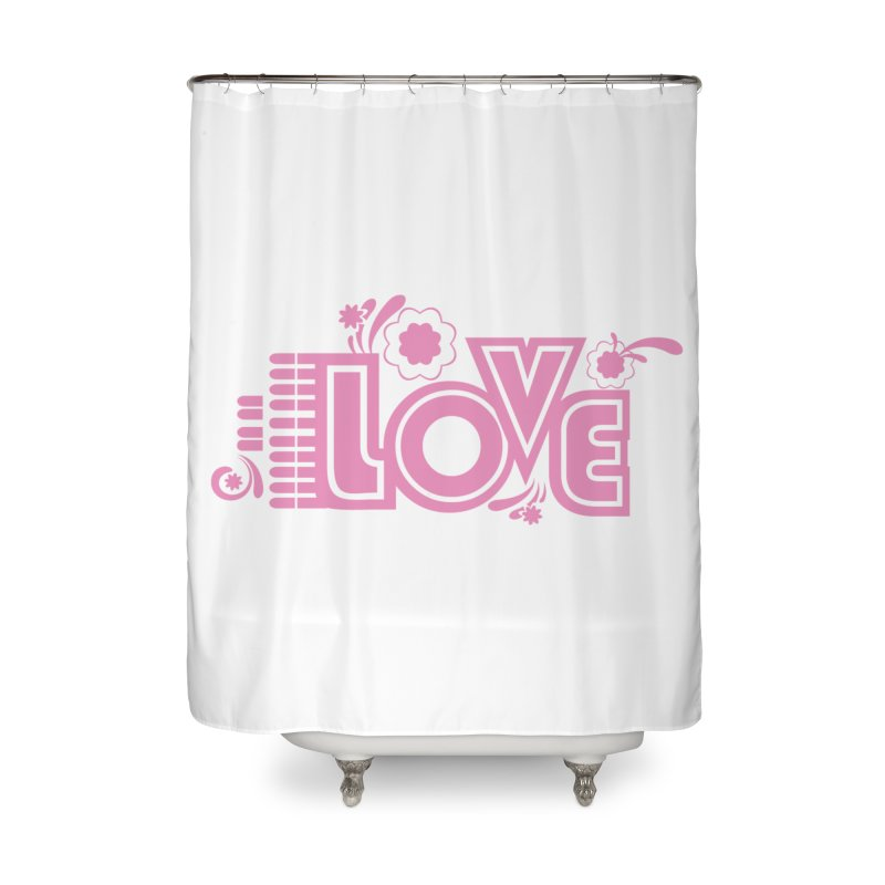 Steno Love Home Shower Curtain by Stenograph's Artist Shop