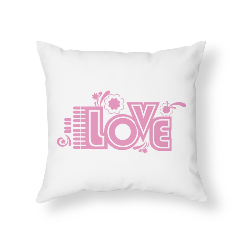 Steno Love Home Throw Pillow by Stenograph's Artist Shop