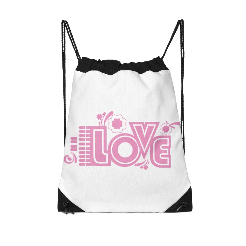 Steno Love Accessories Drawstring Bag Bag by Stenograph's Artist Shop