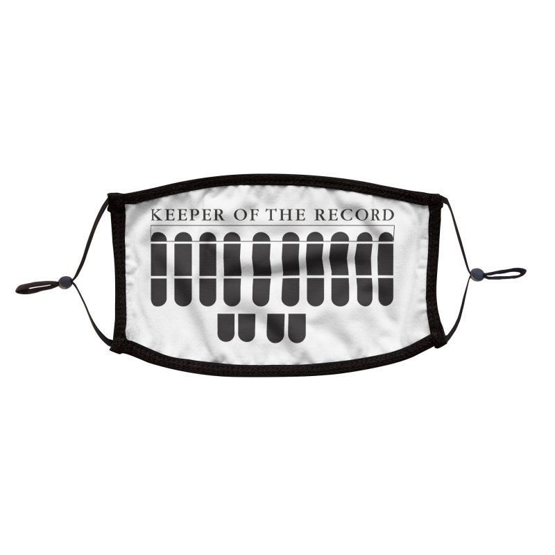 Keeper of the Record Accessories Face Mask by Stenograph's Artist Shop