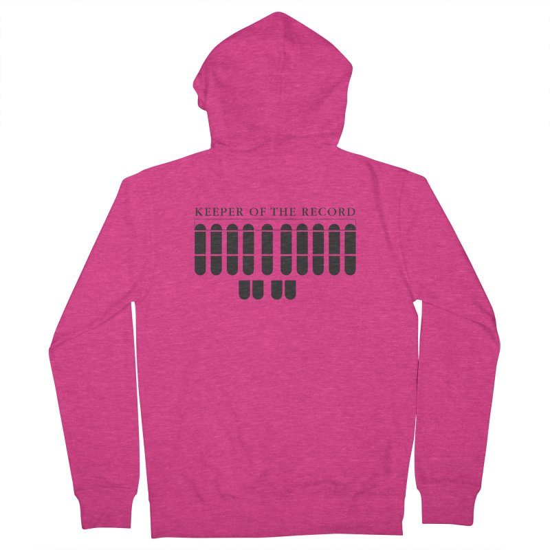 Keeper of the Record Women's French Terry Zip-Up Hoody by Stenograph's Artist Shop