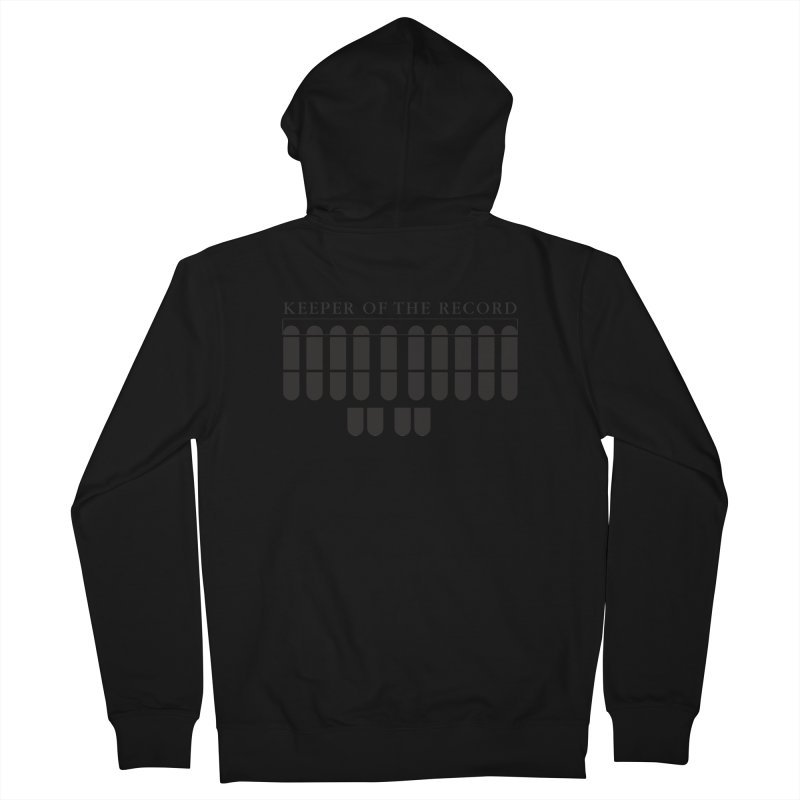 Keeper of the Record Men's French Terry Zip-Up Hoody by Stenograph's Artist Shop