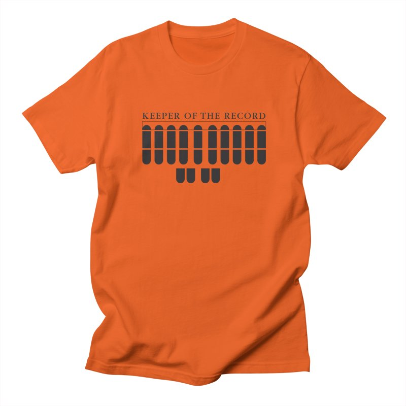 Keeper of the Record Men's Regular T-Shirt by Stenograph's Artist Shop