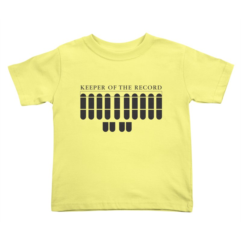 Keeper of the Record Kids Toddler T-Shirt by Stenograph's Artist Shop