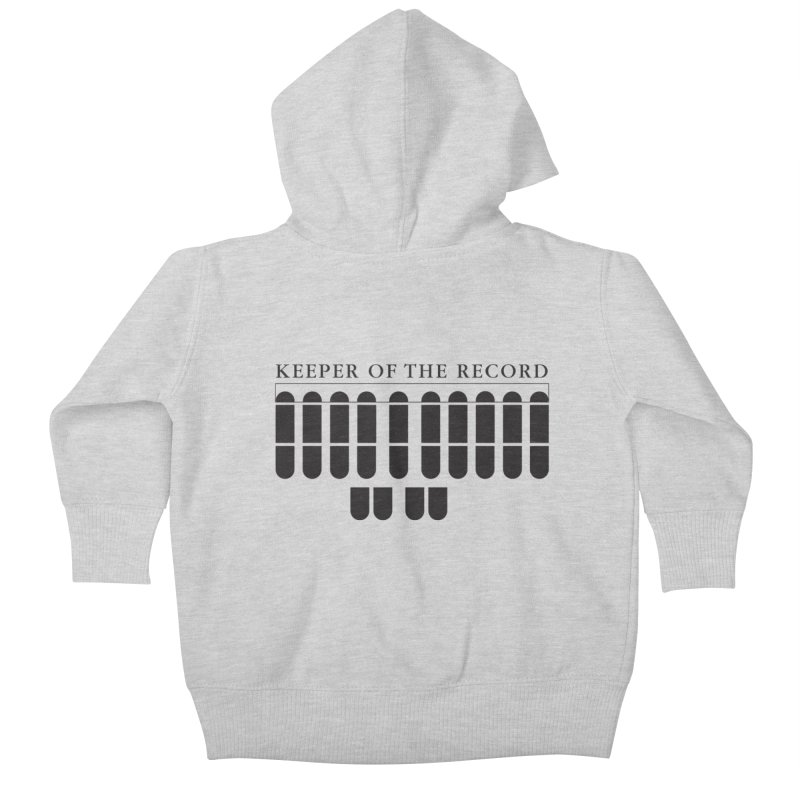 Keeper of the Record Kids Baby Zip-Up Hoody by Stenograph's Artist Shop