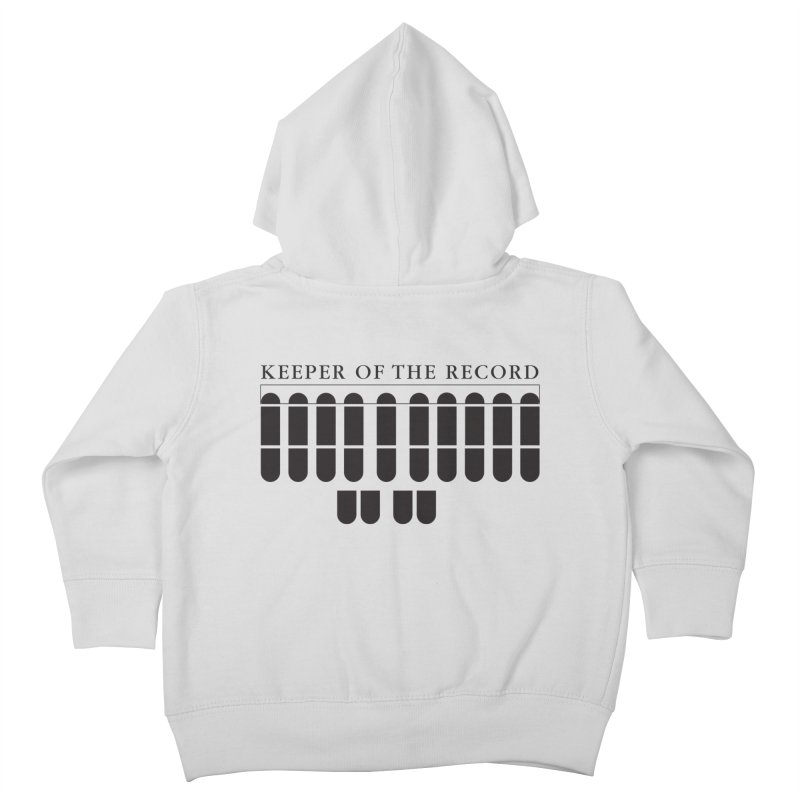 Keeper of the Record Kids Toddler Zip-Up Hoody by Stenograph's Artist Shop