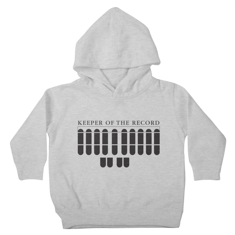 Keeper of the Record Kids Toddler Pullover Hoody by Stenograph's Artist Shop