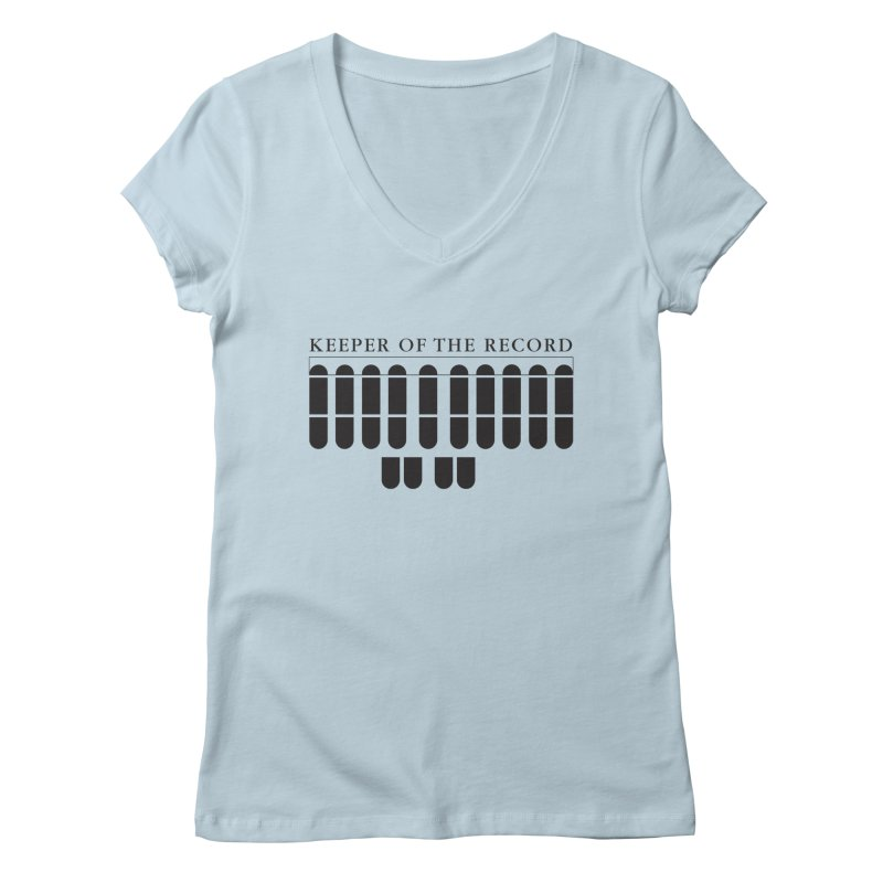 Keeper of the Record Women's Regular V-Neck by Stenograph's Artist Shop