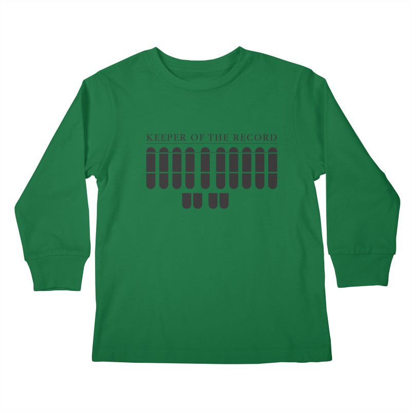 Keeper of the Record Kids Longsleeve T-Shirt by Stenograph's Artist Shop
