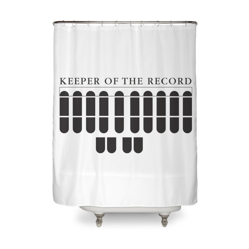Keeper of the Record Home Shower Curtain by Stenograph's Artist Shop