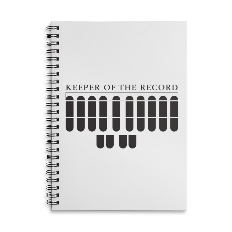Keeper of the Record Accessories Lined Spiral Notebook by Stenograph's Artist Shop