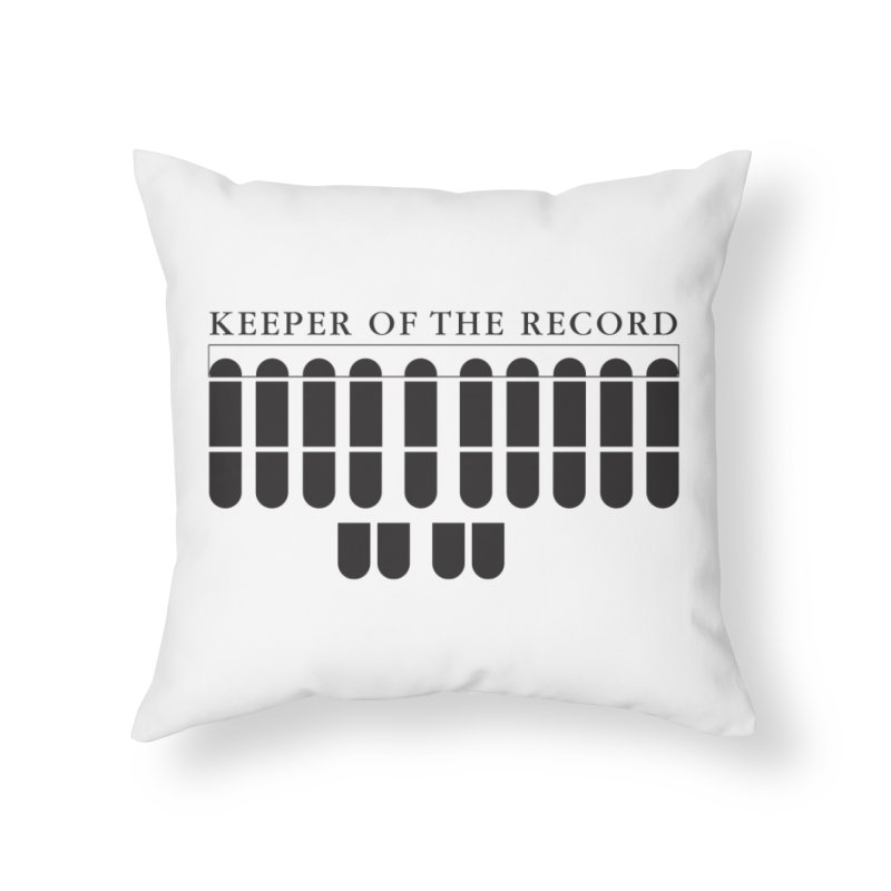 Keeper of the Record Home Throw Pillow by Stenograph's Artist Shop