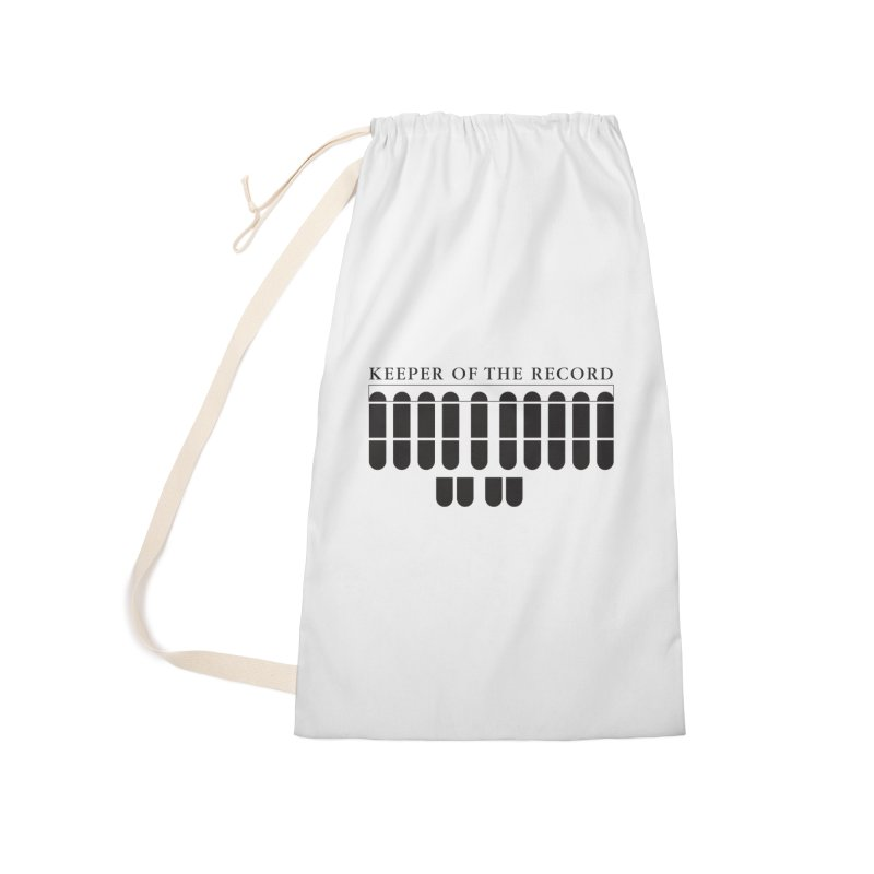 Keeper of the Record Accessories Laundry Bag Bag by Stenograph's Artist Shop