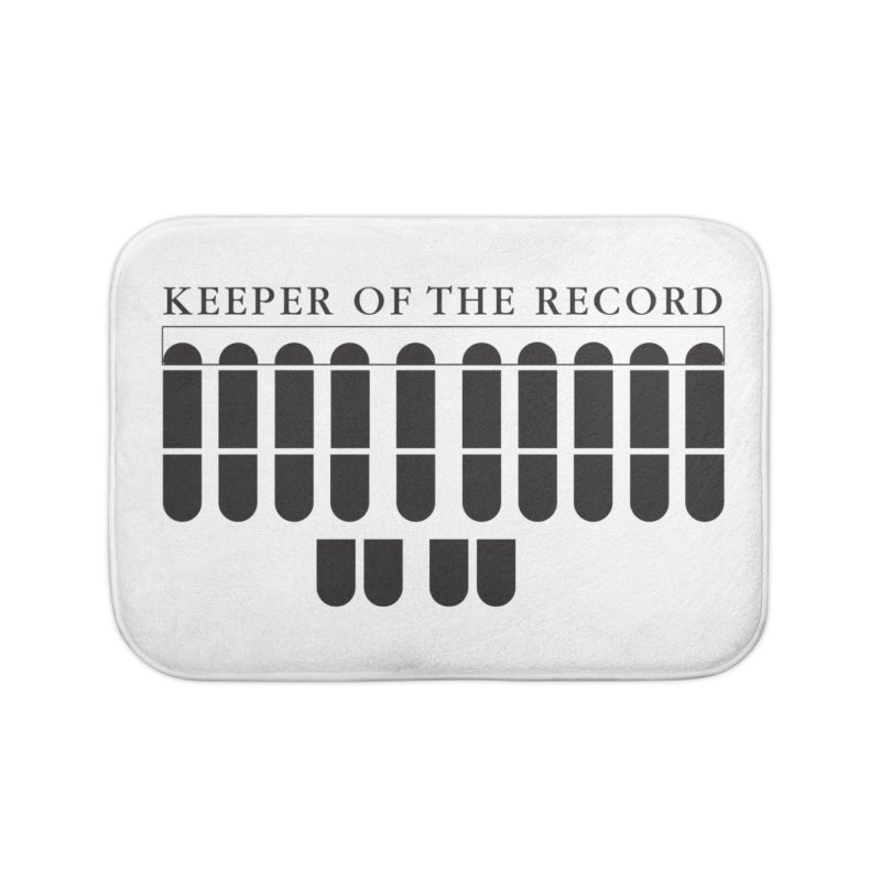 Keeper of the Record Home Bath Mat by Stenograph's Artist Shop