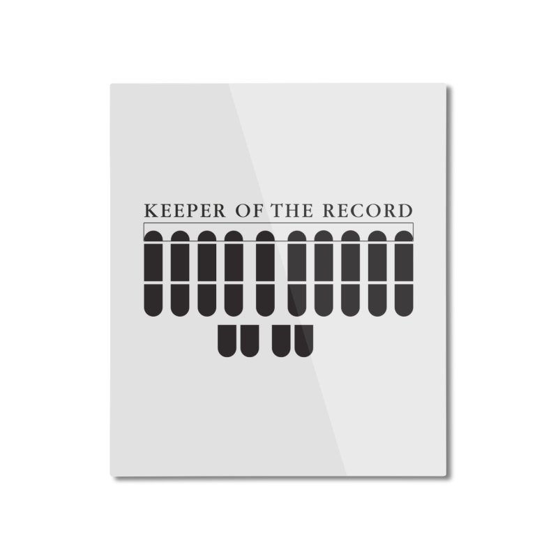 Keeper of the Record Home Mounted Aluminum Print by Stenograph's Artist Shop