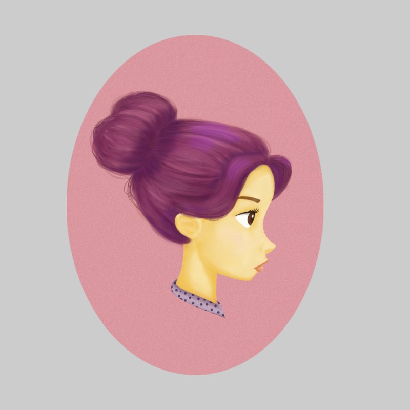 Messy Bun Girl by stephanie's Artist Shop
