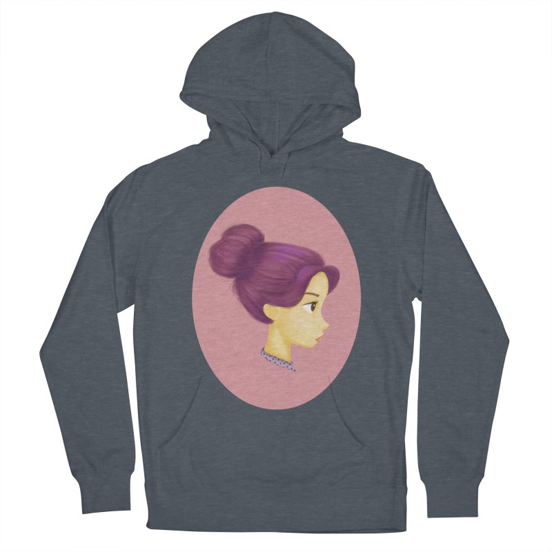 Messy Bun Girl Women's Pullover Hoody by stephanie's Artist Shop