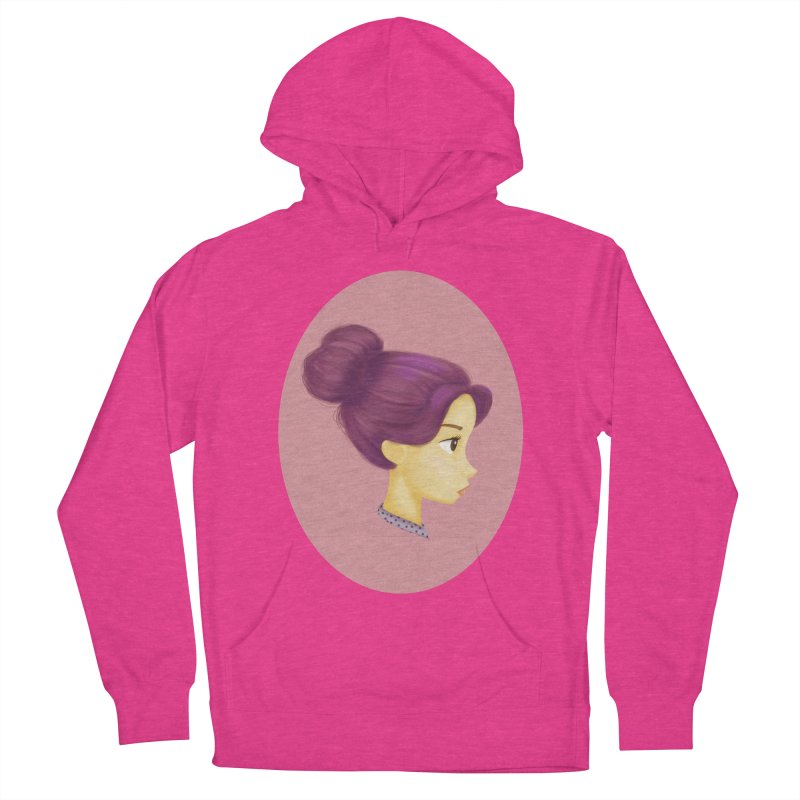 Messy Bun Girl Women's Pullover Hoody by stephanie's Artist Shop