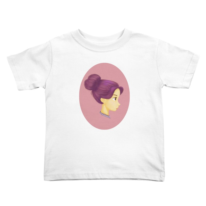 Messy Bun Girl Kids Toddler T-Shirt by stephanie's Artist Shop