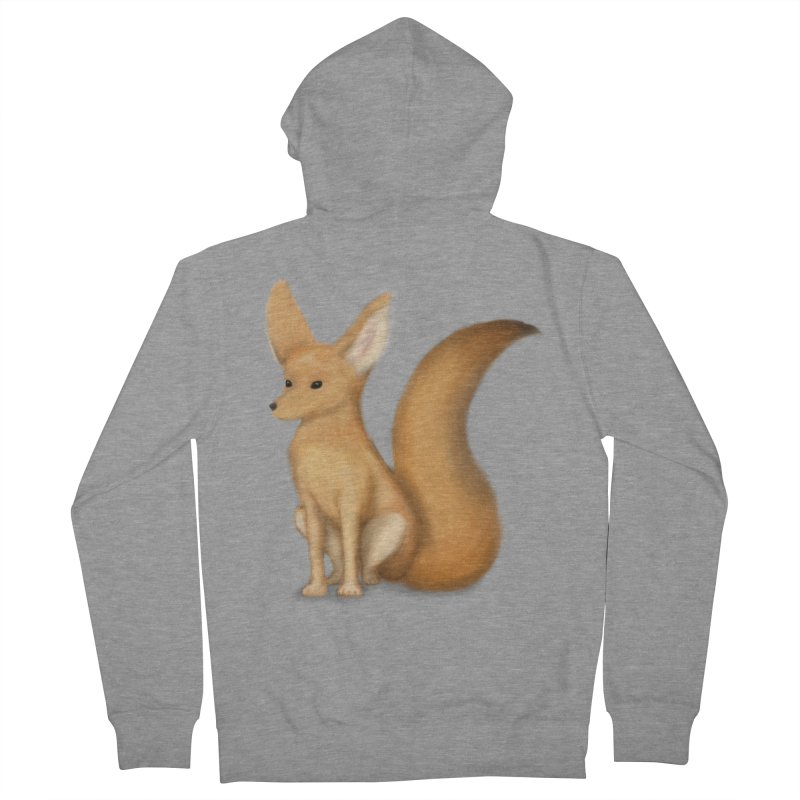 Furry Fox Women's Zip-Up Hoody by stephanie's Artist Shop