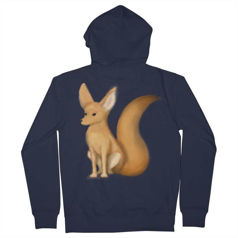 Furry Fox Men's Zip-Up Hoody by stephanie's Artist Shop