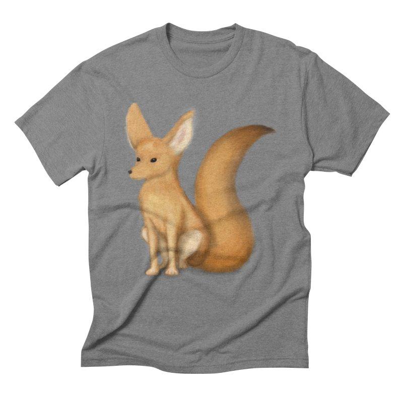 Furry Fox Men's Triblend T-shirt by stephanie's Artist Shop