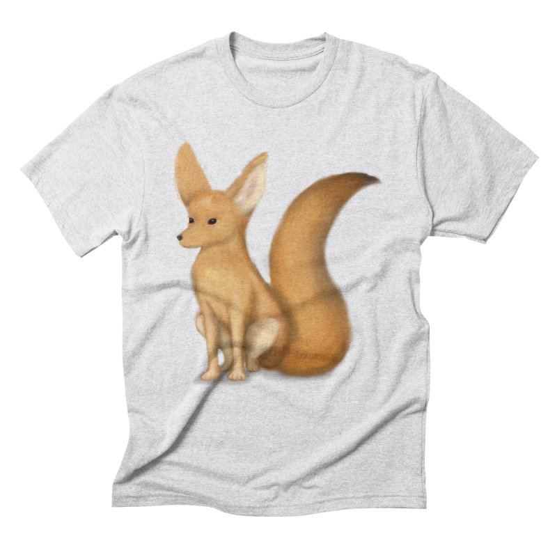 Furry Fox Men's Triblend T-Shirt by stephanie's Artist Shop