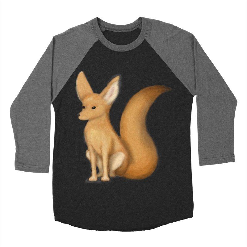Furry Fox Women's Baseball Triblend T-Shirt by stephanie's Artist Shop