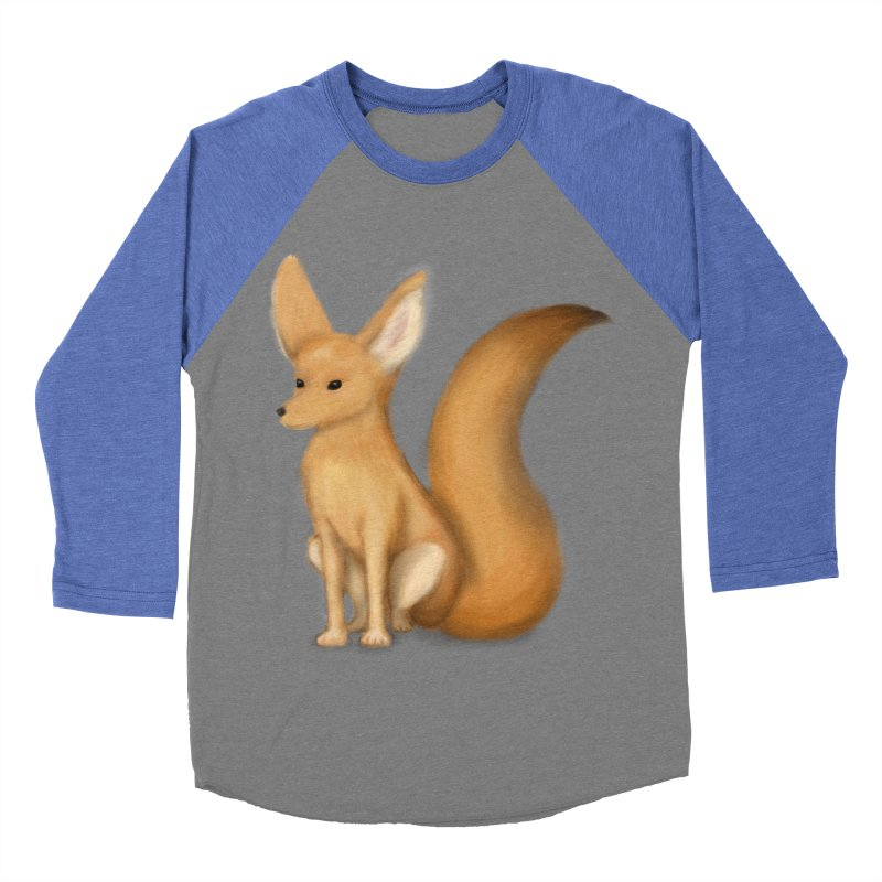 Furry Fox Men's Baseball Triblend T-Shirt by stephanie's Artist Shop