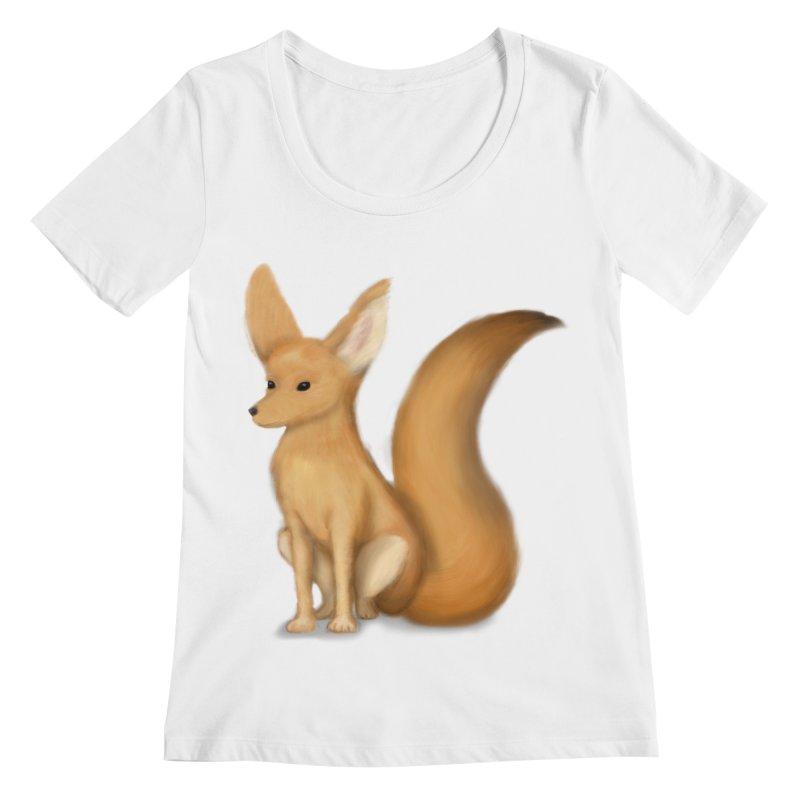 Furry Fox Women's Scoopneck by stephanie's Artist Shop