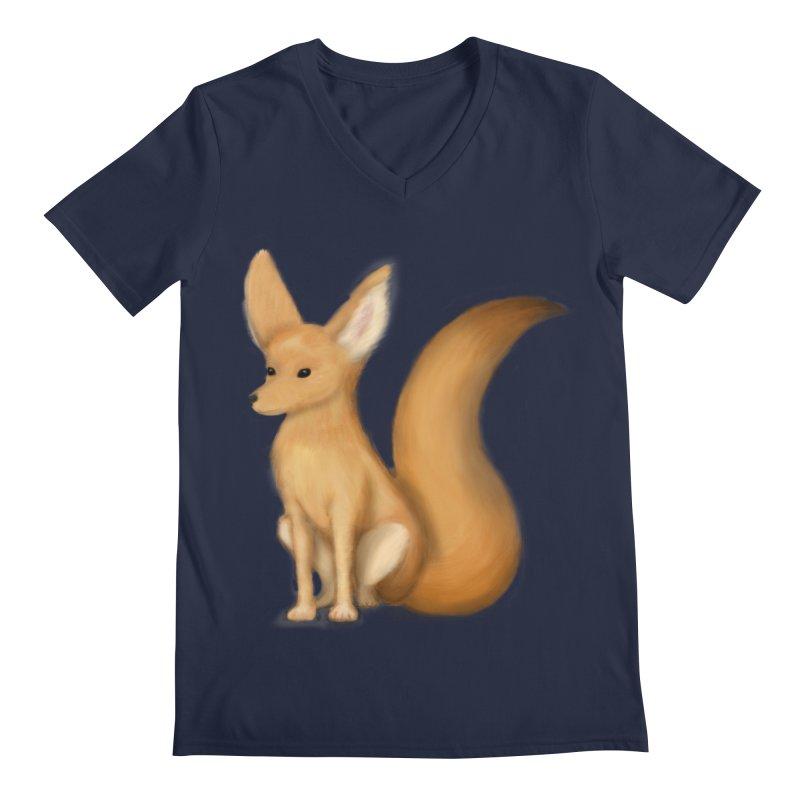 Furry Fox Men's V-Neck by stephanie's Artist Shop
