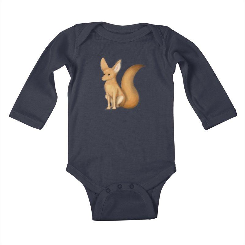Furry Fox Kids Baby Longsleeve Bodysuit by stephanie's Artist Shop