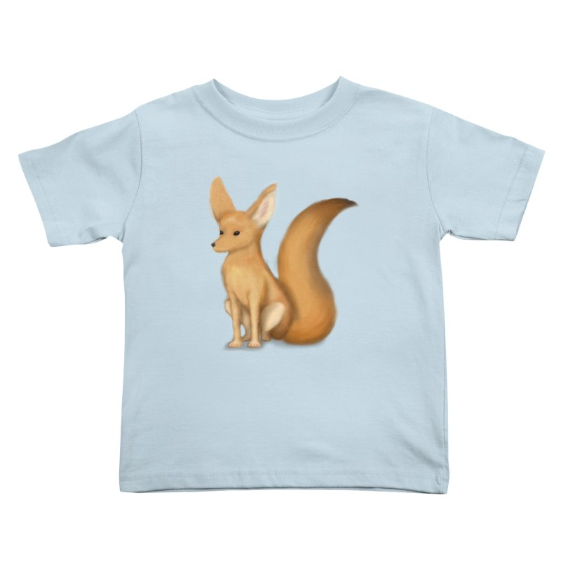 Furry Fox Kids Toddler T-Shirt by stephanie's Artist Shop