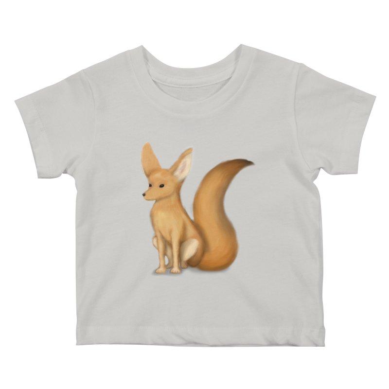Furry Fox Kids Baby T-Shirt by stephanie's Artist Shop
