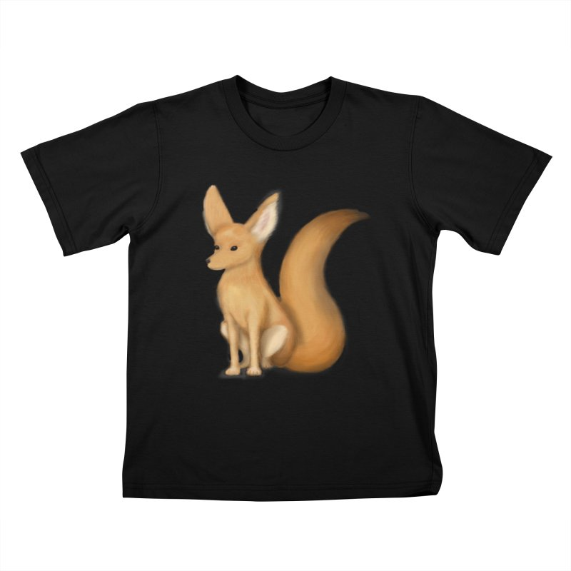 Furry Fox Kids T-Shirt by stephanie's Artist Shop