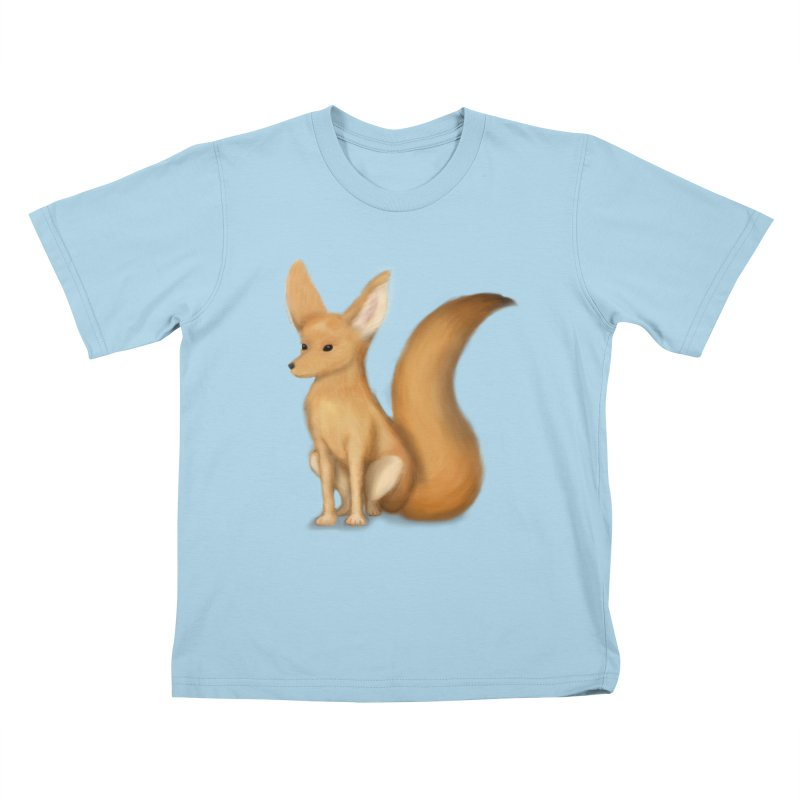 Furry Fox Kids T-shirt by stephanie's Artist Shop