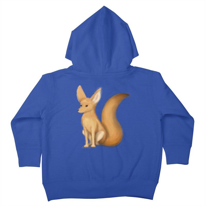 Furry Fox Kids Toddler Zip-Up Hoody by stephanie's Artist Shop