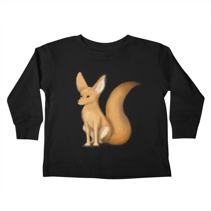 Furry Fox Kids Toddler Longsleeve T-Shirt by stephanie's Artist Shop