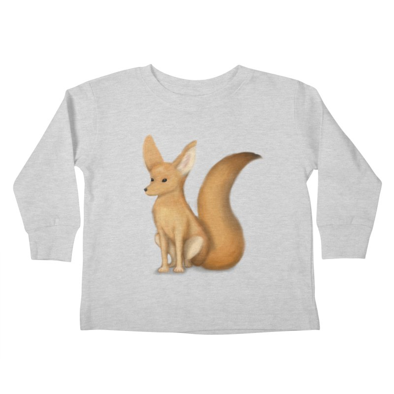 Furry Fox Kids Toddler Longsleeve T-Shirt by stephanie's Artist Shop
