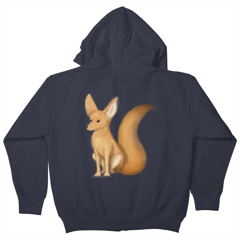 Furry Fox Kids Zip-Up Hoody by stephanie's Artist Shop