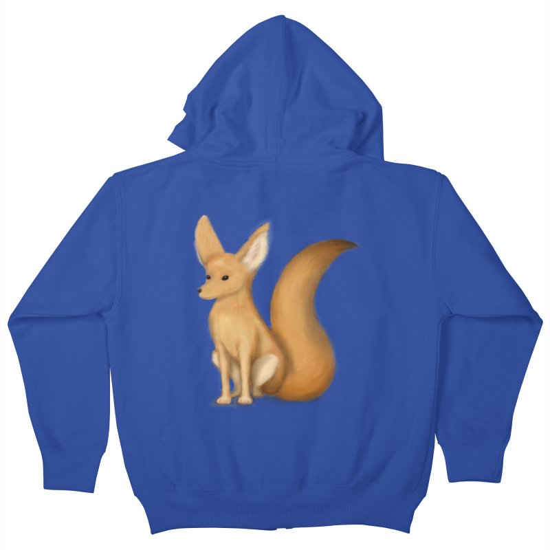 Furry Fox Kids Zip-Up Hoody by stephanie's Artist Shop