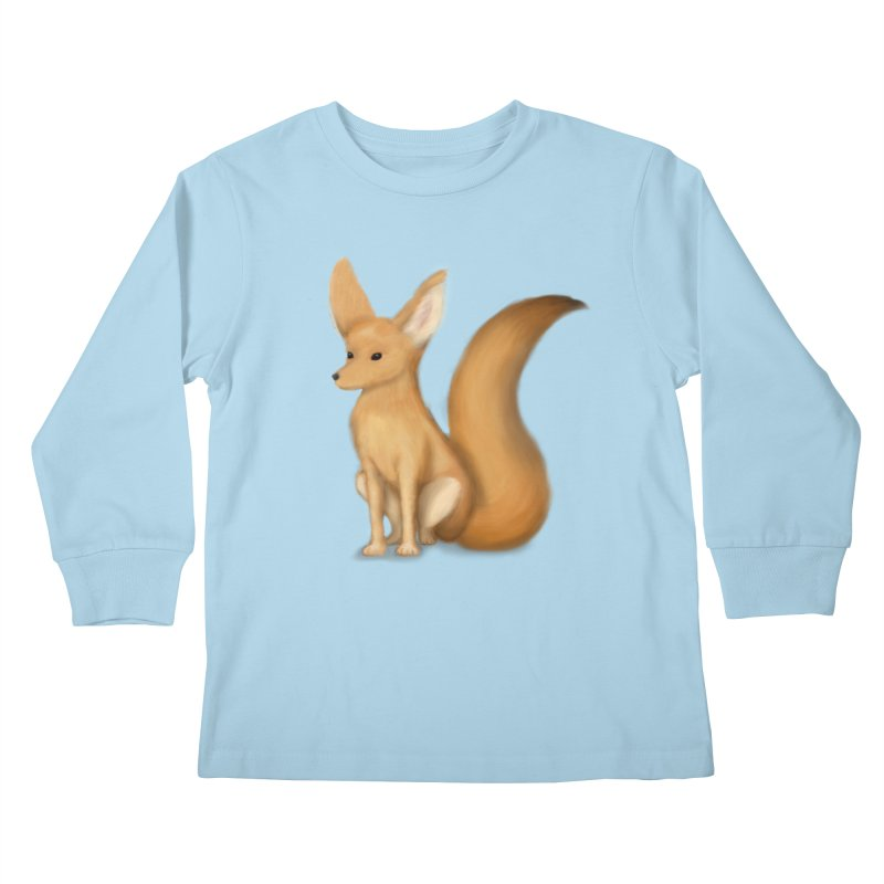 Furry Fox Kids Longsleeve T-Shirt by stephanie's Artist Shop
